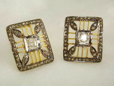Victorian 3.80ct Antique Rose Cut Diamond Earrings, Free Shipping Worldwide
