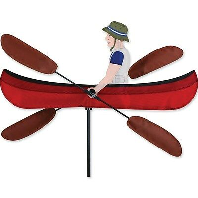 "Canoe 20"" Staked Wind Whirl Oars Whirligig with Pole & Ground Mount  PR 21877"