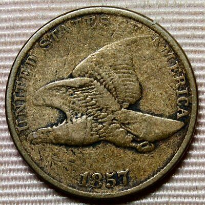 1857 Flying Eagle Small Cent * Nice Details and Color