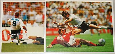 LESOTHO 1997 Block 121-22 S/S 1078-79 Soccer World Cup 1998 France Fußball WM **