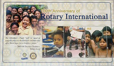 LESOTHO 2005 Klb 1932-34 1372 Cent. Rotary Intl. Charity Children Meal MNH