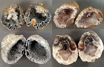 Select Your Occo Agate Quartz Crystal Split Geodes - Amethyst Citrine Smoky