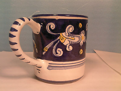 "DERUTA ITALY SIGNED MUG, A MANO ""MARCO"" NEW CONDITION"