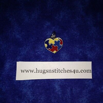 Autism Awarenss Heart Charm - Package of 10