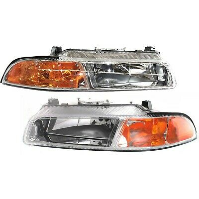 New Headlights Driving Head lights Headlamps Set of 2 Left & Right Side Pair