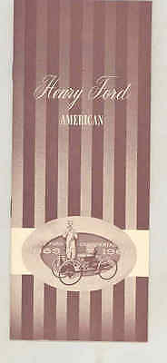 1863 1963 Henry Ford Centennial Dearborn Bank Brochure Rouge B24 Trimotor wt9945