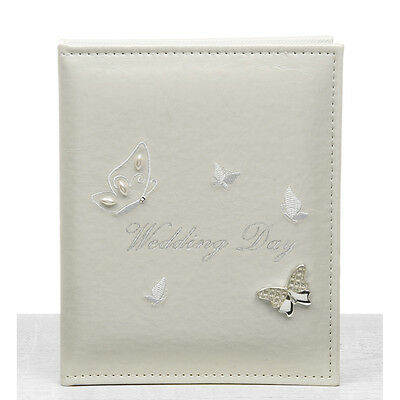 "Wedding Gift - Butterfly Design Wedding Photo Album Holds 24 5"" x 7"" Photographs"