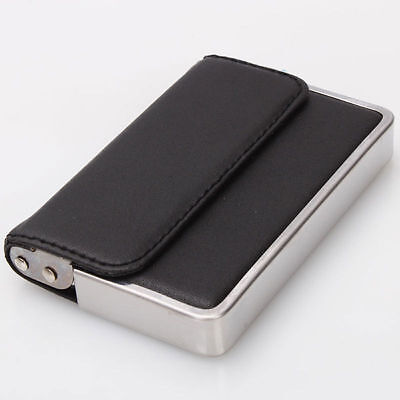 Mens Wallet Business ID Card Case Holder Stainless Steel Artificial Leather New