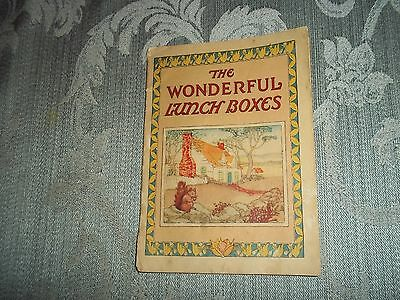 "Vintage 1925 Post Cereal ""The Wonderful Lunchboxes"" Booklet"