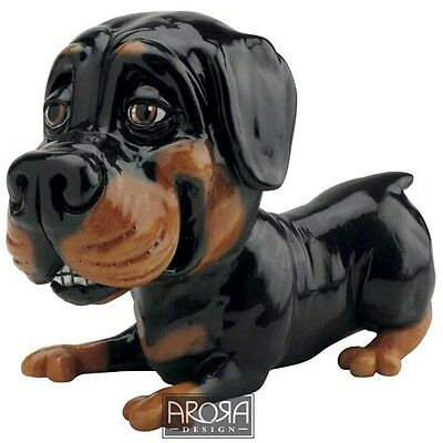 Little Paws Bruiser the Rottweiler Dog Figurine  NEW  21250