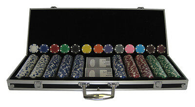 500 CLAY Dice 11.5 Poker Chips Custom Set with Alum Case 13 Colors Your Choice *