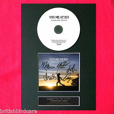 YOU ME AT SIX Cavalier Youth Album Signed CD COVER MOUNTED A4 Autograph Print 59