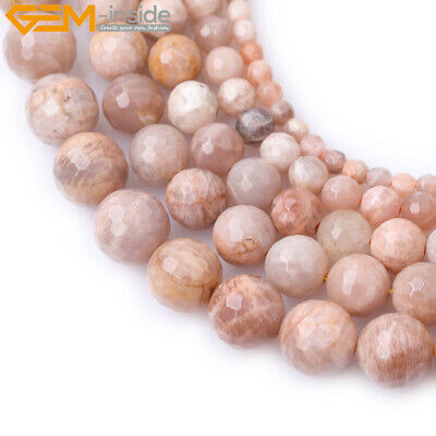 """Natural Gemstone Faceted Sunstone Beads Strand 15"""" Wholesale Jewelry Loose Beads"""