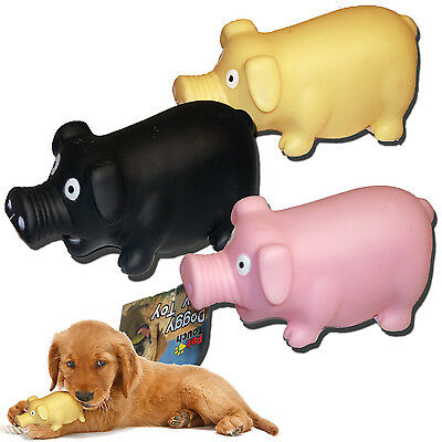 Strong Plastic Squeaky Sound Play Farm Animal Pig Dog Doggy Puppy Pet Chew Toys