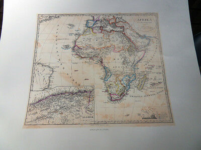 Stulpnagel Map of Africa Lithographed from the Original Antique Map