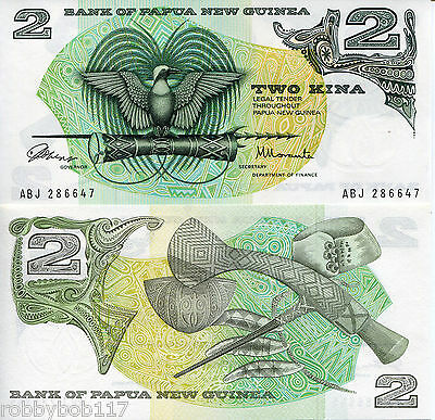 PAPUA NEW GUINEA 2 Kina Banknote World Money South Pacific Bill Note p1 1975