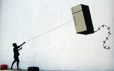 Banksy Art  Print A4 Size For 99P Only Not Canvas New (Fridge Kite)