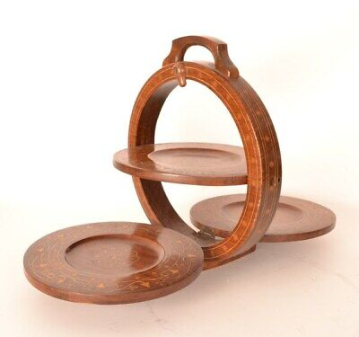 Antique Mahogany Folding Cake Stand c.1900