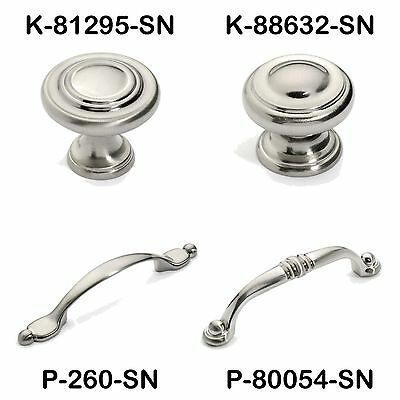 Satin Nickel Cabinet Hardware Ring Knobs and Pulls