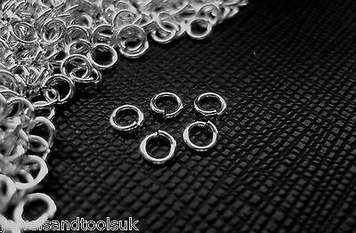 Solid Sterling Silver Jump Rings ~ Good Quality Strong ~ Open 4mm
