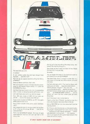1969 SC Rambler Hurst Scrambler ORIGINAL Brochure mx3476-IT62G1