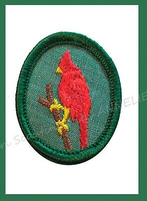 CARDINAL Girl Scout TROOP CREST Red Bird NEW Patch Badge Multi=1 Ship Charge
