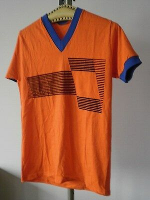 Kotaura HERRENSPIELERHEMD 80er Trikot orange blau Shirt Made in GDR size 5 80´s