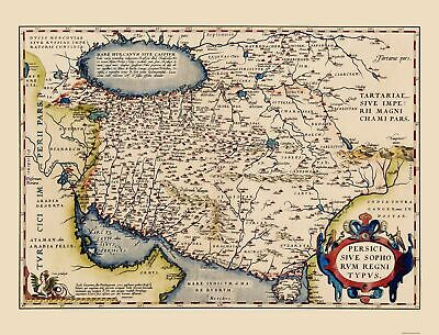 Old Middle East Map - Persian Empire - Ortelius 1570 - 23 x 30.18