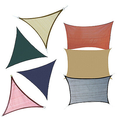 Outsunny Sun Shade Sail Top Fabric Cover Patio Awning Garden Canopy Multi-size