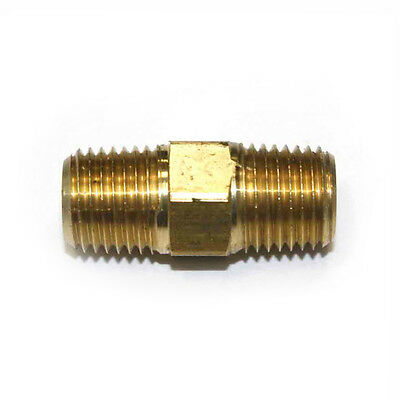 "1/4"" NPT Male thread  Brass Hex Nipple pipe fitting air fuel water FA414"