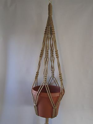 MACRAME PLANT HANGER 34in Vintage 6mm CHOOSE COLOR