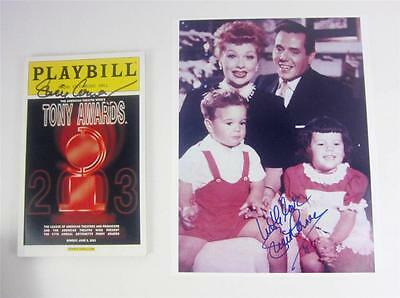 Playbill Orig Broadway Lucie Arnaz Signed Tony Awards 2003 + Photo, COA Lucille