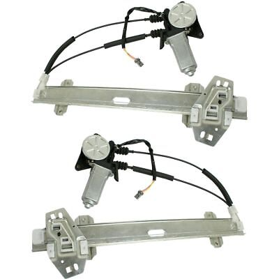 New Window Regulators Glass Set of 2 Left & Right Side Front with motor Pair