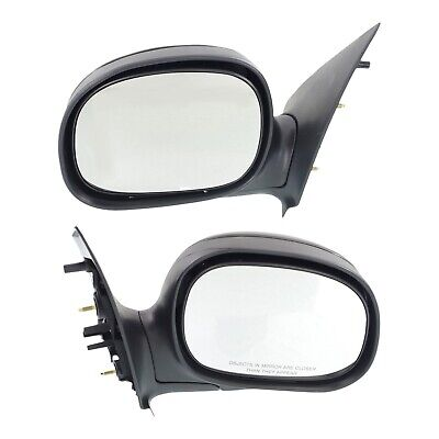 Manual Mirror Set Of 2 For 1997-2002 Ford F-150 Manual Folding Primed