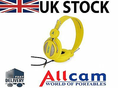 WeSC OBOE Street On Ear Unisex Headphones Yellow with Handsfree and Microphone