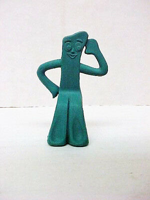 "Vintage 1985 Gumby pencil topper eraser 2-1/2"" tall"