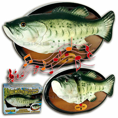 (271) Big Mouth BILLY BASS Singing Fish singender Fisch lustige Dekoration NEU