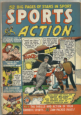 Sports Action #3 Marvel Comic 1950 VG- Hack Wilson Cubs Hall Of Famer