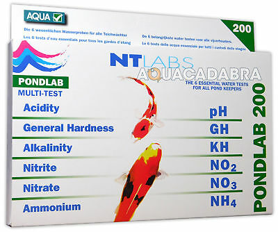 NT LABS PONDLAB 200 POND LAB WATER MULTI TEST TESTING KIT pH GH KH NO2 NO3 NO4