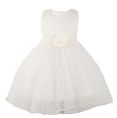 New Ivory Christening Party Flower Girl Pageant Dress 3-4 Years