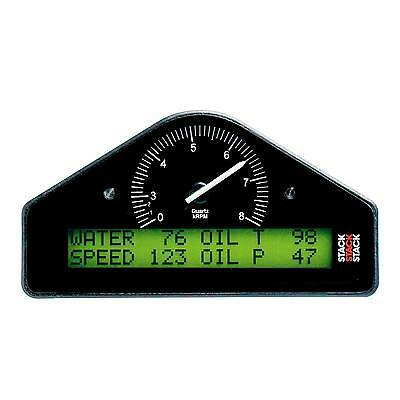 Stack ST8100 Rally Dash Gauge Display - Black Dial Face - 0-8000 RPM Rev Range