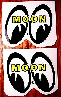 12 SETS ~ VERY SMALL Mooneyes Decals Hot Rat Rod Gasser Stickers Moon Eyes
