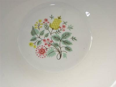 Beautiful Vintage Porcelain Vegetable Bowl w/Pink & Yellow Flowers! Laughlin?