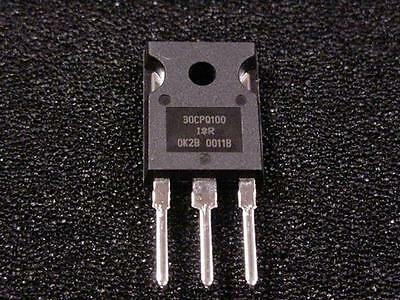 30CPQ100 [ QTY 5 ] 100V Schottky Rectifier, 2 x 15 A TO-247 Package