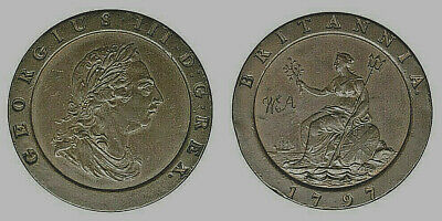 INGHILTERRA GREAT BRITAIN 2 PENNY 1797 George III° #4290A