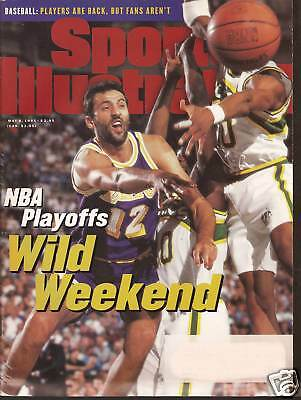 SPORTS ILLUSTRATED 5-8-95 NBA Playoffs Kentucky Derby  Bud Selig  Cal Ripkin, Jr