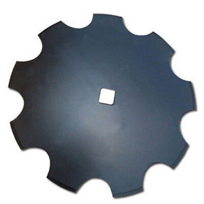 """Universal Fit 18"""" Notched Disc Blade 3mm x 1"""" Square Axle Hole"""