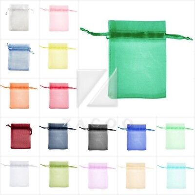 20/60/100 Organza Gift Wedding Favor Bags Pouches Wholesale 3 Size Free Ship