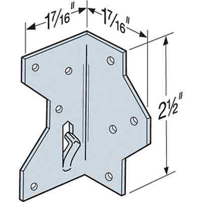 "Simpson Strong-Tie A34Z 1-7/16"" x 2-1/2"" Framing Angle (Pack of 10)"