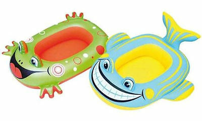 New Inflatable Kids Toddler Whale / Frog Raft Float Rider Boat Pool Beach Toy